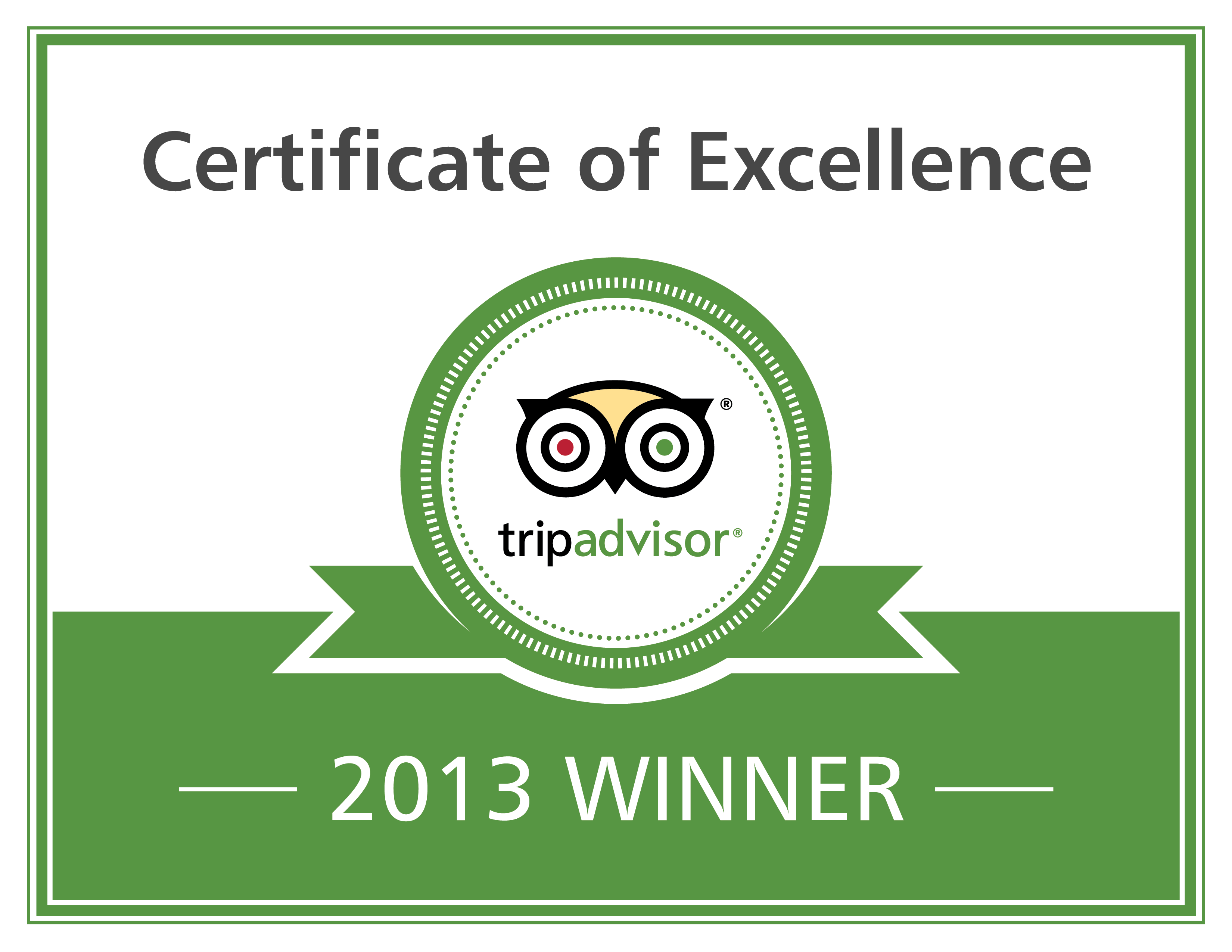 Lowlander wins trip advisor award for excellence