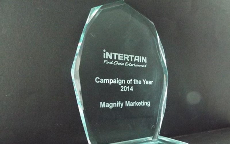Magnify awarded 'Campaign of the Year 2014' by iNTERTAIN