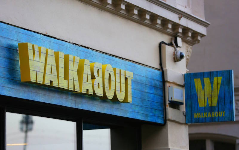 Grand opening of Walkabout Brighton